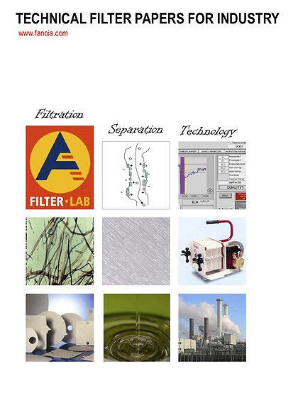 TECHNICAL FILTER PAPERS FOR INDUSTRY